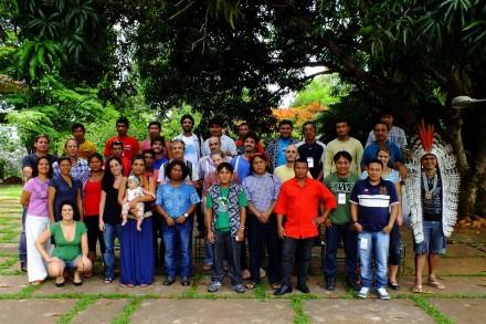 Foto do grupo de participantes da oficina